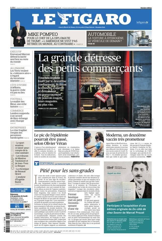 Le Figaro du 17 novembre 2020