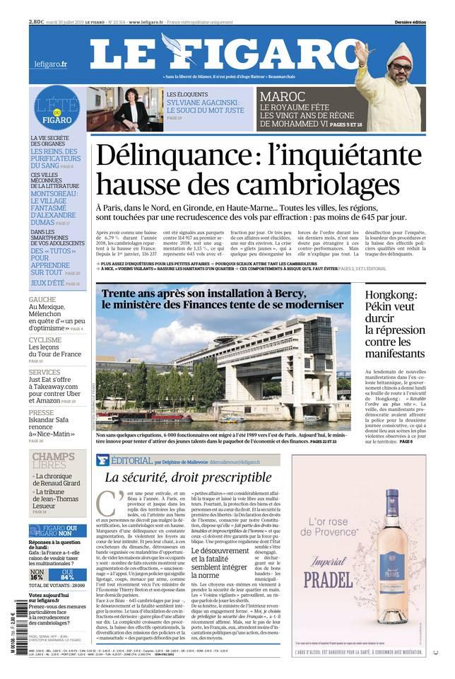 Le Figaro du 30 juillet 2019