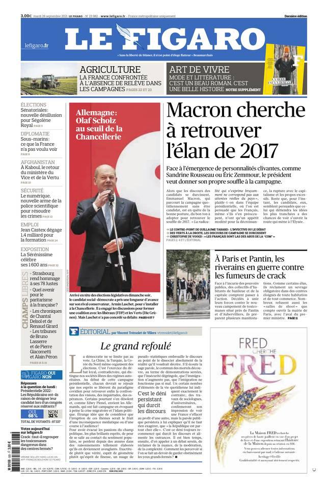 Le Figaro du 28 septembre 2021