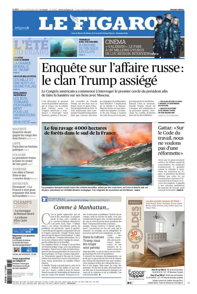 Le Figaro du 26 juillet 2017