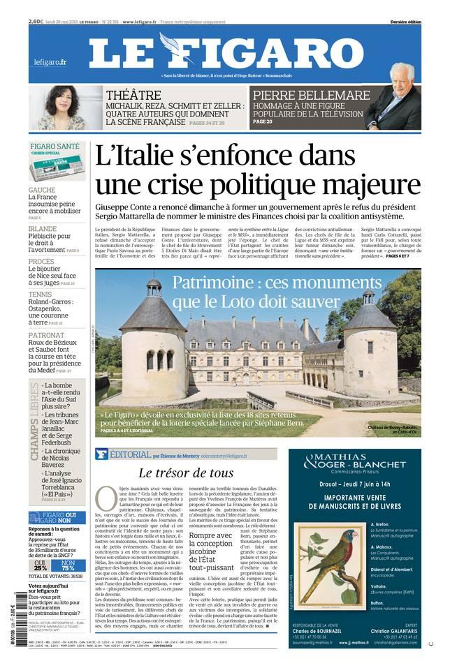 Le Figaro du 28 mai 2018