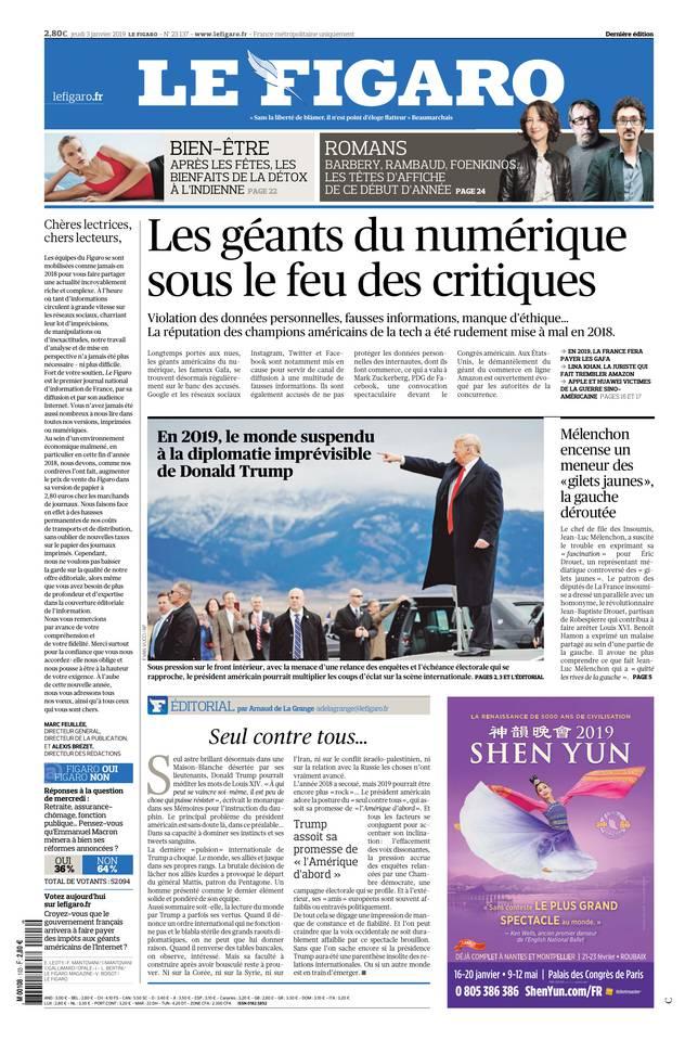 Le Figaro du 03 janvier 2019