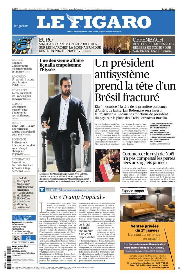 Le Figaro du 29 décembre 2018