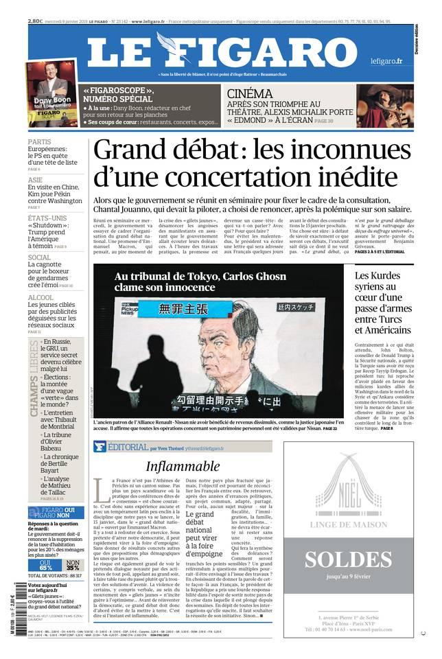 Le Figaro du 09 janvier 2019