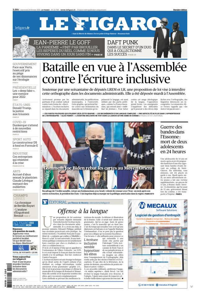 Le Figaro du 24 février 2021
