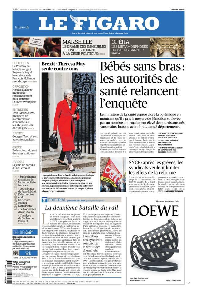 Le Figaro du 16 novembre 2018