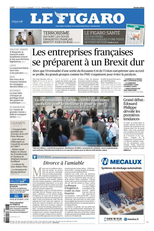 Le Figaro du 08 avril 2019