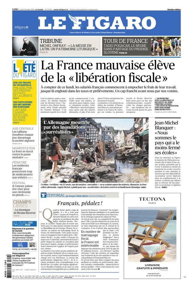 Le Figaro du 19 juillet 2021