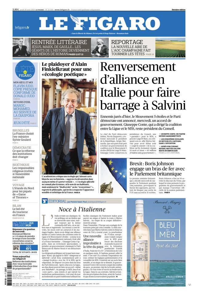 Le Figaro du 29 août 2019