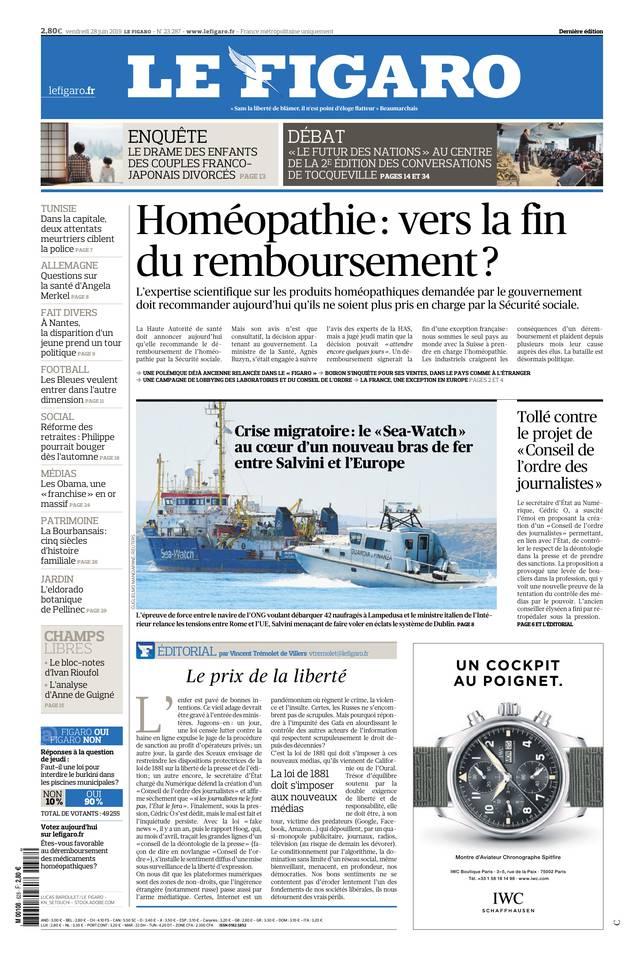 Le Figaro du 28 juin 2019