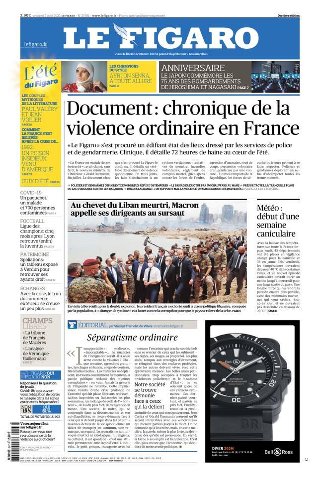 Le Figaro du 07 août 2020