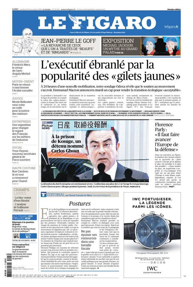 Le Figaro du 23 novembre 2018