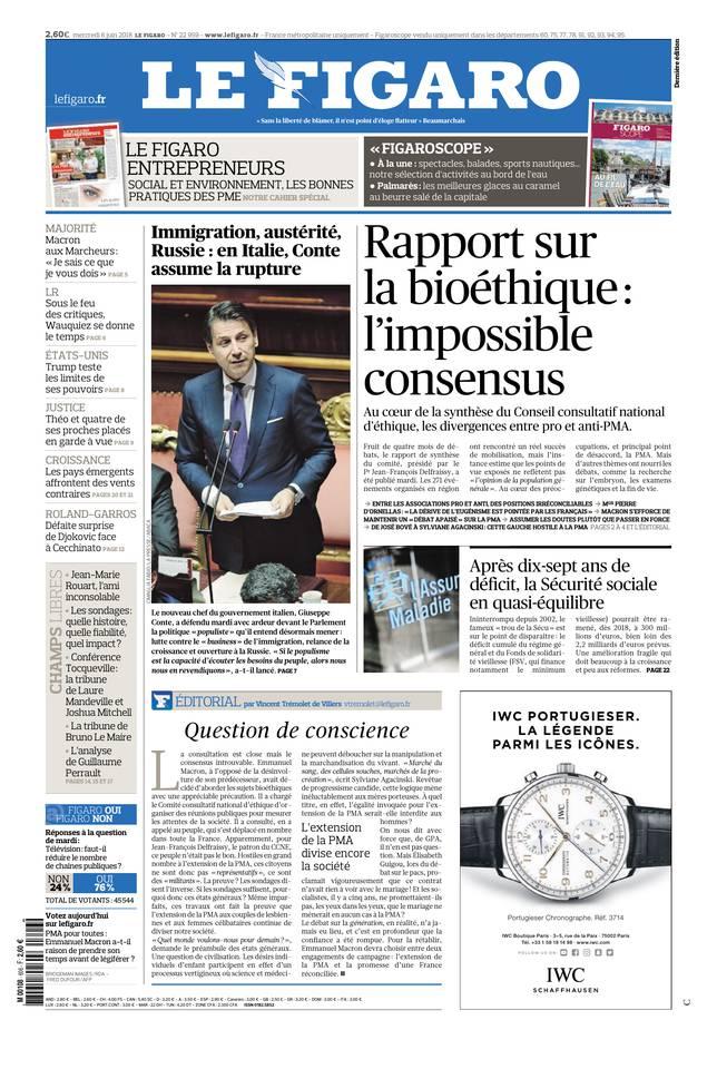 Le Figaro du 06 juin 2018