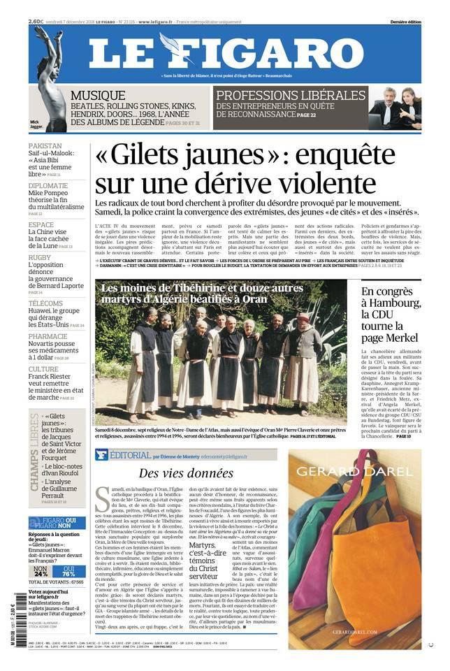 Le Figaro du 07 décembre 2018