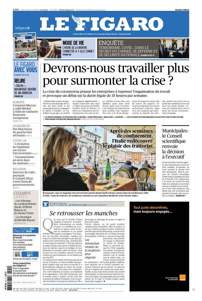 Le Figaro du 20 mai 2020