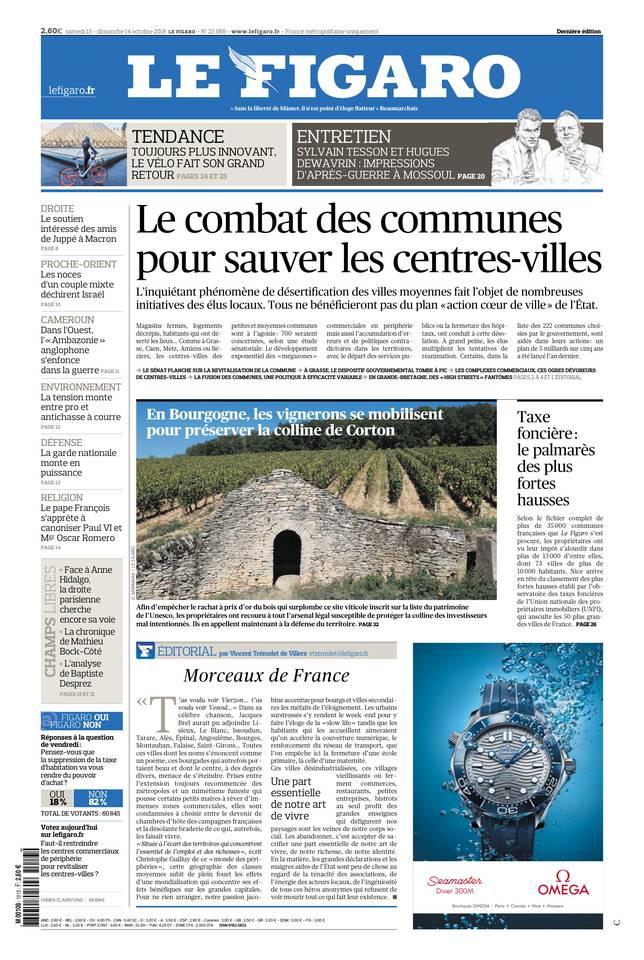 Le Figaro du 13 octobre 2018