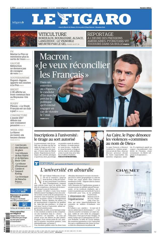 Le Figaro du 29 avril 2017