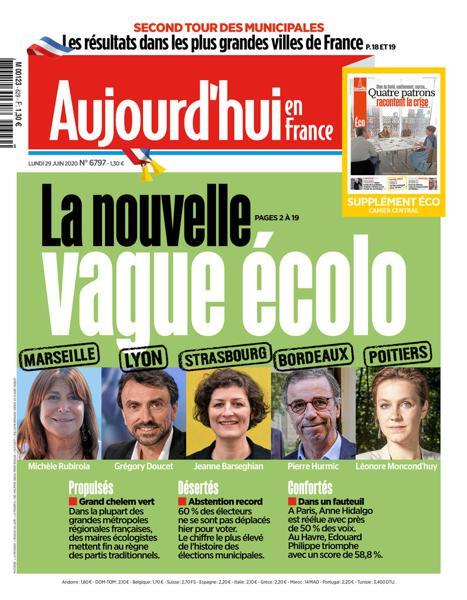 Edition du 29 Juin 2020