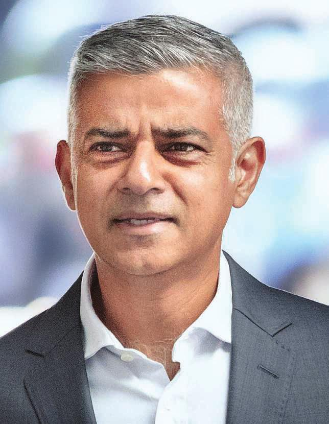 Sadiq Khan,  maire de Londres, le 7 mars, à Paris.