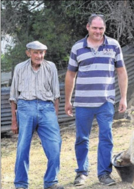 Ange-Marie Gambarelli,48 ans,Jean-Martin Livrelli,88 ans Agriculteurs à a Confina