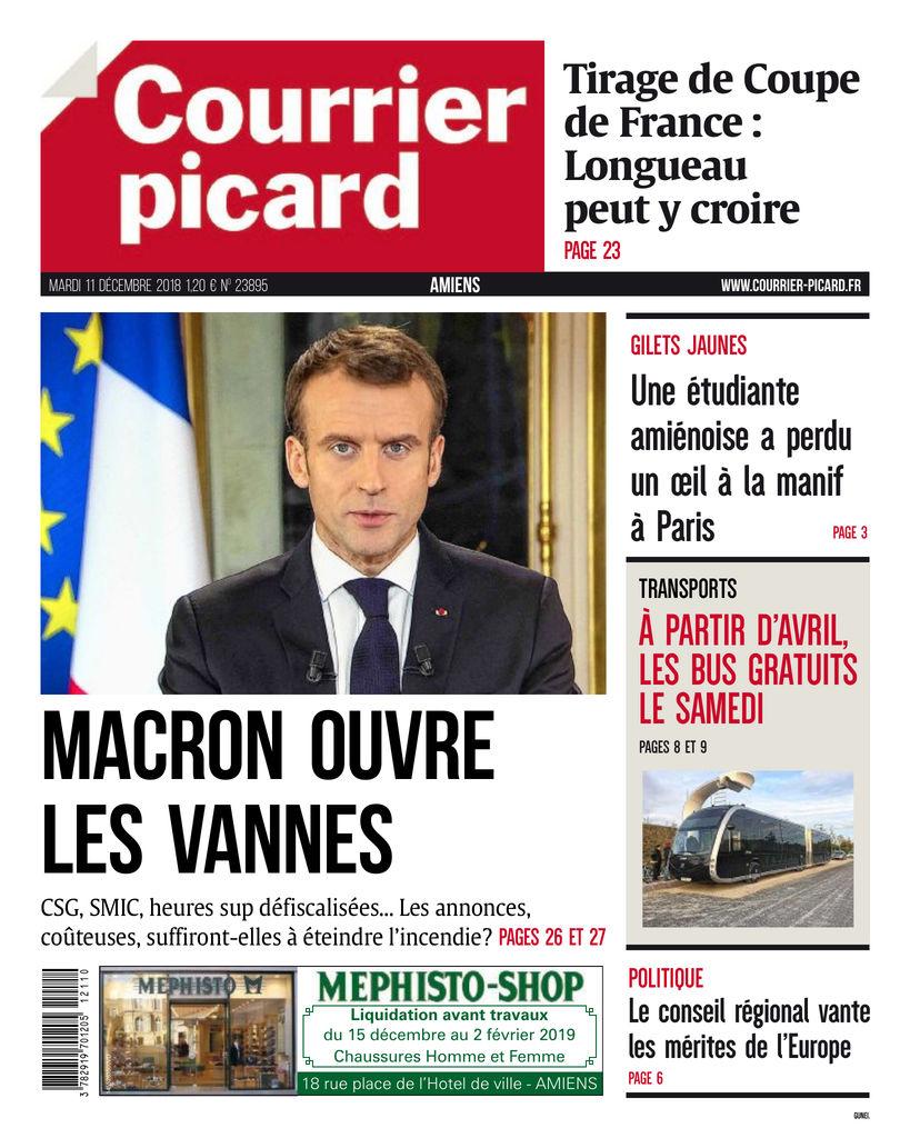 2b9e4e5463aa8c Courrier Picard - Amiens - Edition du 11 Déc. 2018 | SFR Presse