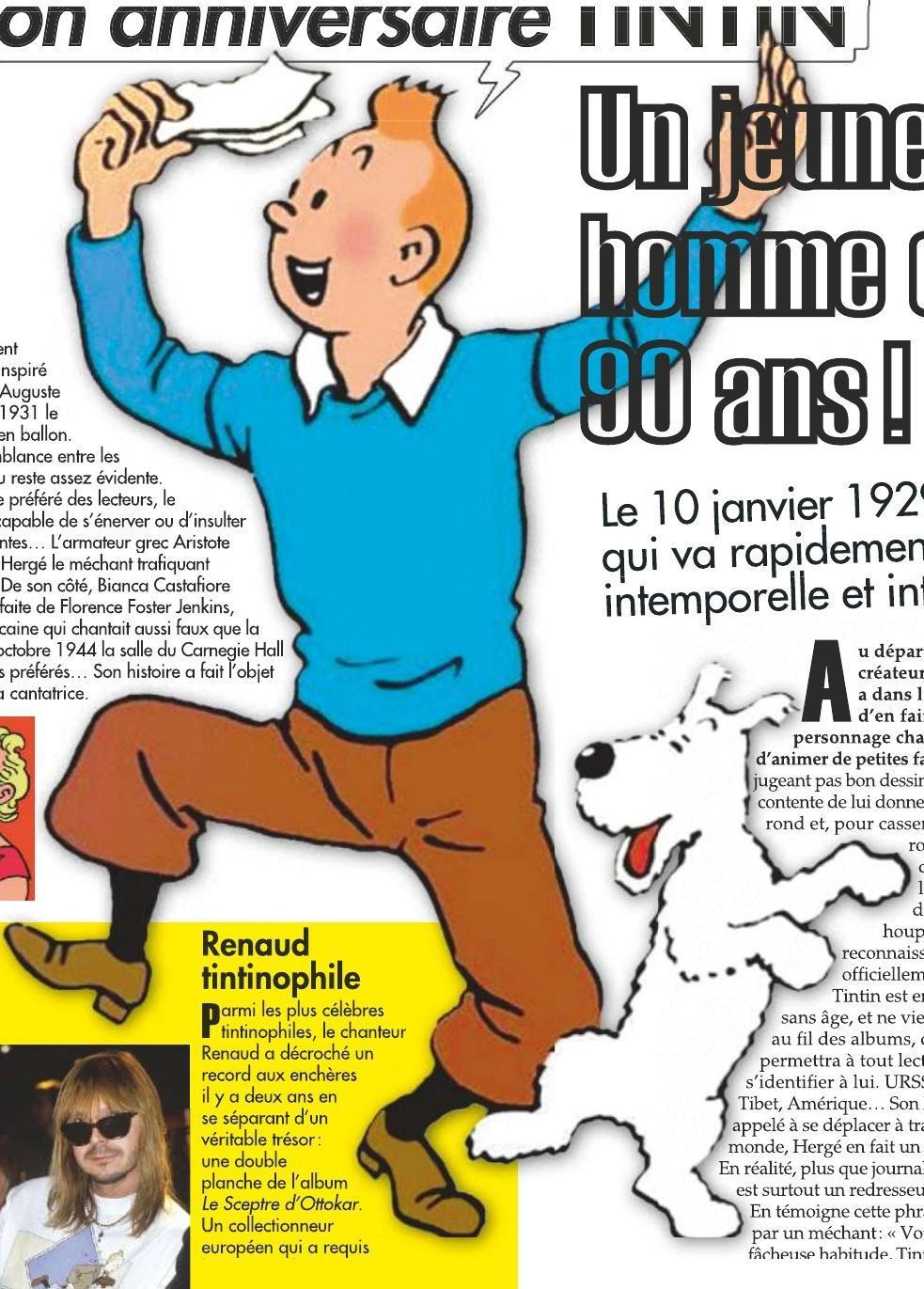 Bon Anniversaire Tintin Un Jeune Homme De 90 Ans Sfr Presse
