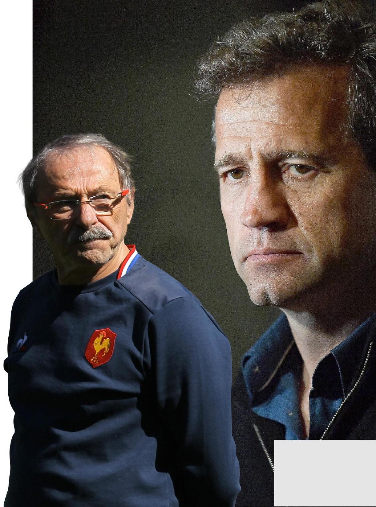 Fabien Galthié a été officiellement intronisé adjoint de Jacques Brunel (à gauche) pour la prochaine Coupe du monde au Japon (20 septembre-2 novembre).