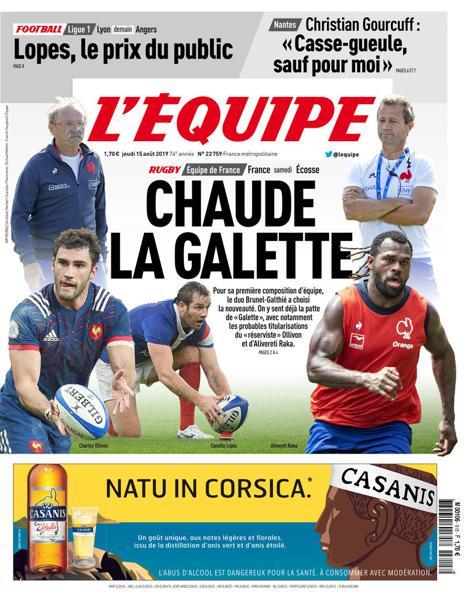 Edition du 15 Août 2019