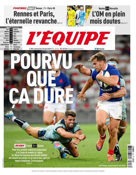 Edition du 18 Août 2019