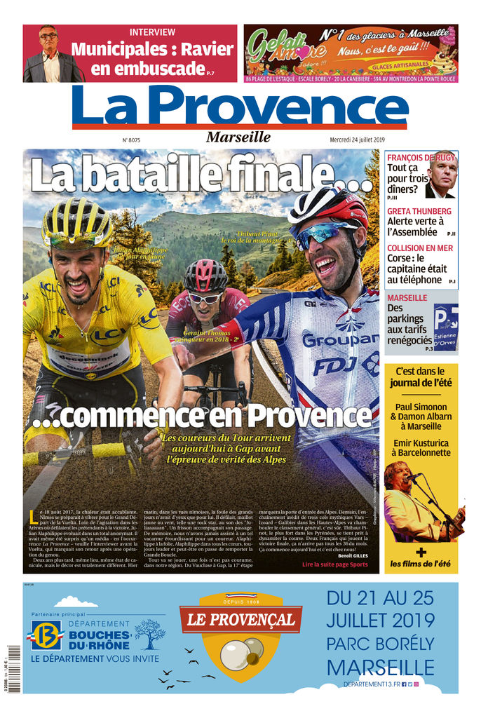 La Provence - Marseille - Edition du 24 Juill  2019   SFR Presse