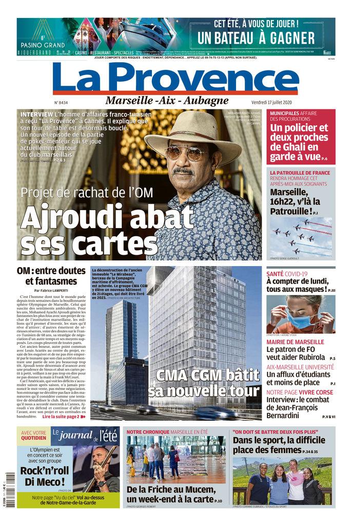 La Provence - Marseille - Edition du 17 Juill. 2020 | SFR Presse