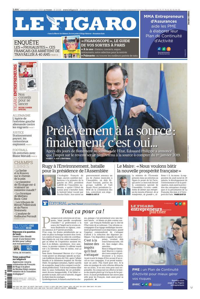 Le 5 Sept2018Sfr Figaro Du Edition Presse TluFJc3K1
