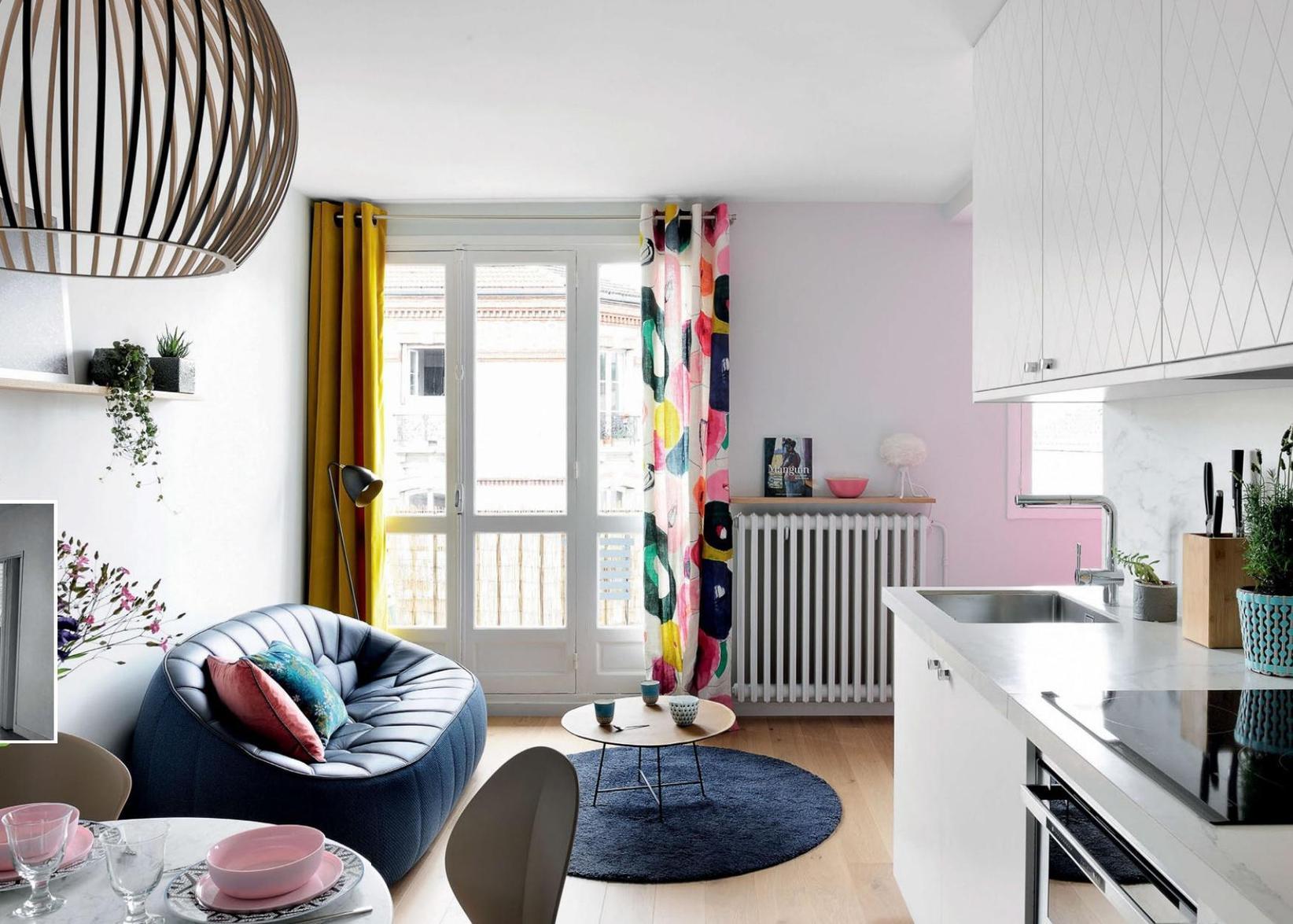 petite surface la couleur d limite l espace sfr presse. Black Bedroom Furniture Sets. Home Design Ideas