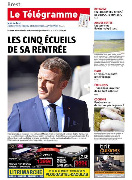 Edition du 21 Août 2019