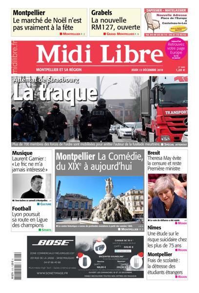 [Exclu Ultima Download] Midi Libre Montpellier Du 13 Décembre 2018