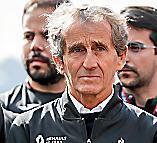alain prost   , Quadruple champion du monde de Formule 1. Il encadrait Anthoine Hubert