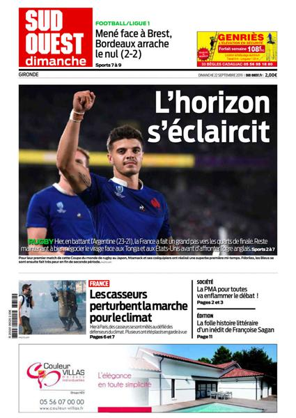 Edition du 22 Sept. 2019
