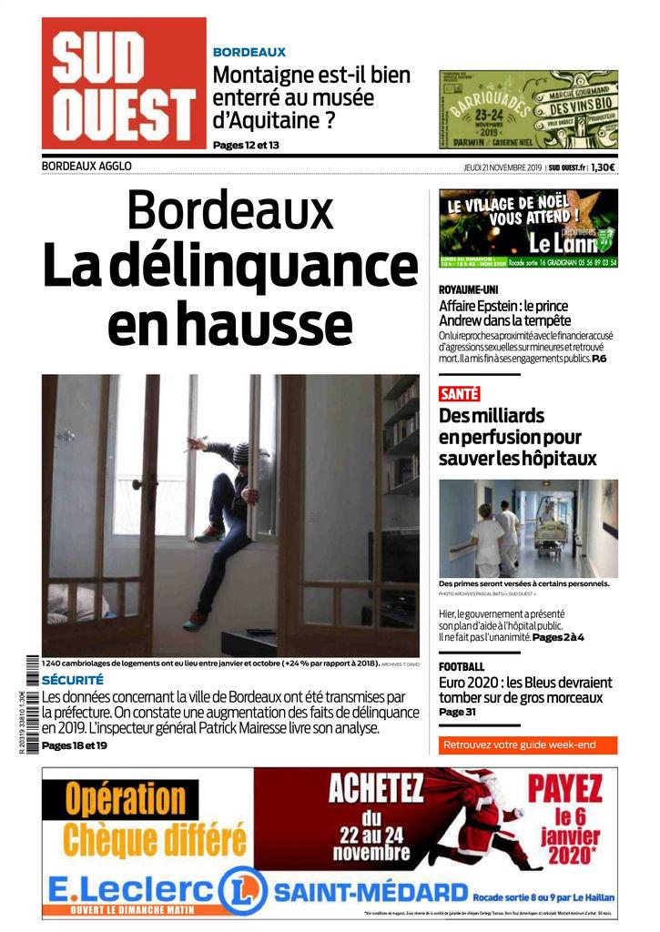 Calendrier Examens Bordeaux Montaigne.Sud Ouest Bordeaux Agglo Edition Du 21 Nov 2019 Sfr