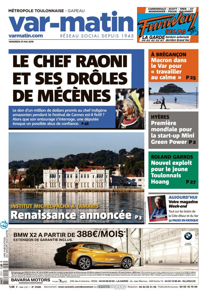 Var Matin Edition Du 31 Mai 2019 Sfr Presse