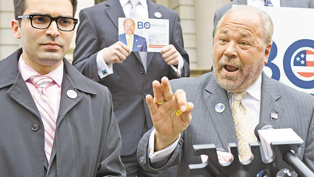 """MAYORAL HOPEFUL Bo Dietl would not fire the cop who killed Eric Garner,he said Monday. """"There was no intention to kill that man,"""" Dietl, a former NYPD cop, ..."""