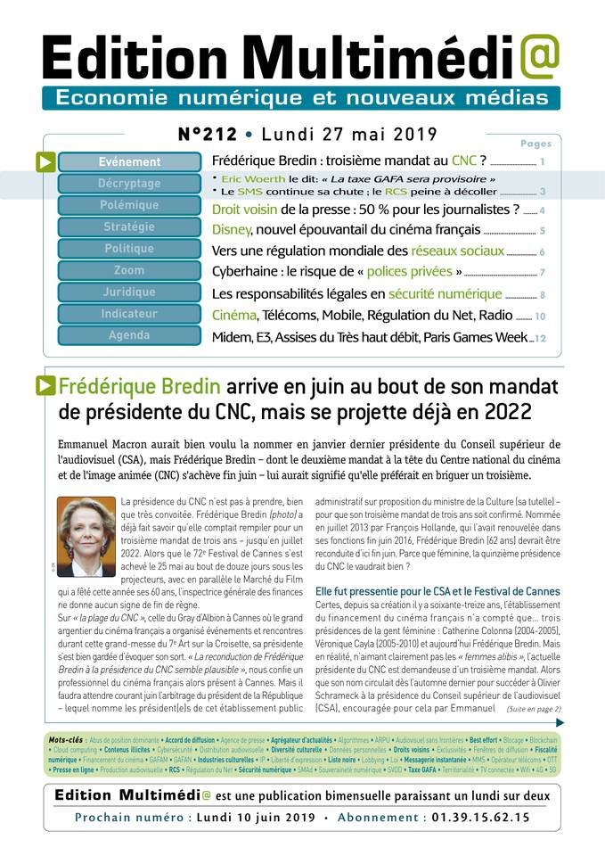 Edition Multimédi@ du 27 mai 2019