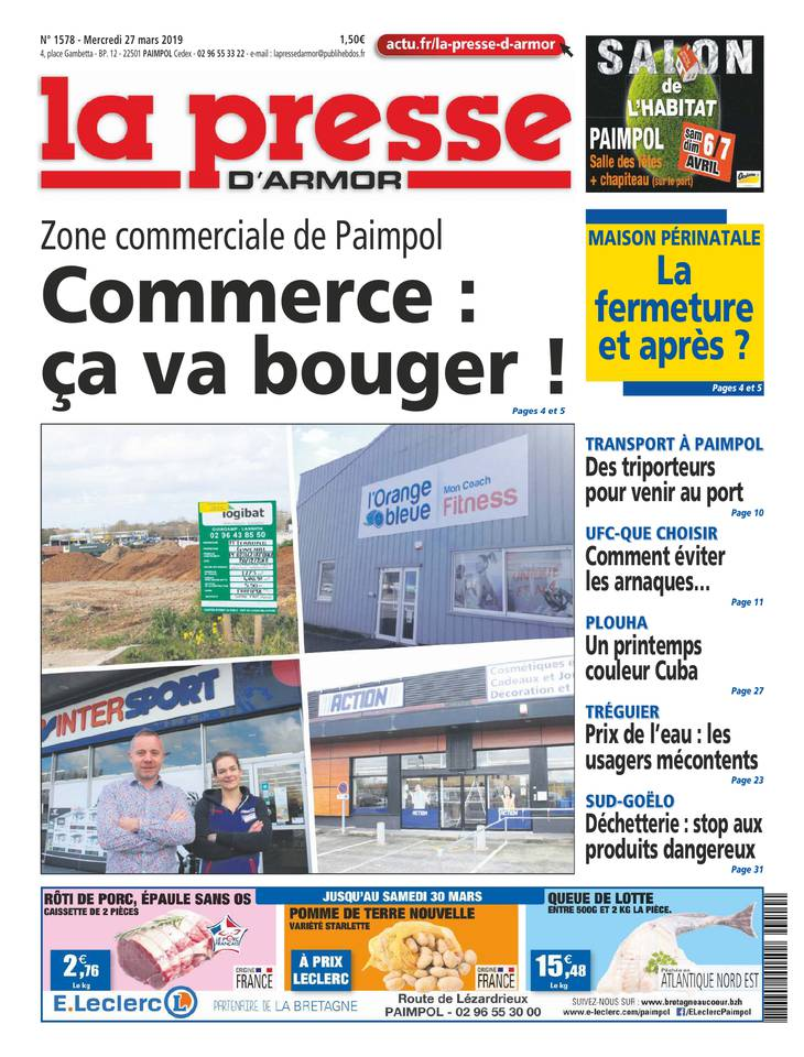 La Presse d'Armor du 27 mars 2019 à télécharger sur iPad