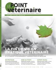 Couverture du dernier numero du Point Vétérinaire