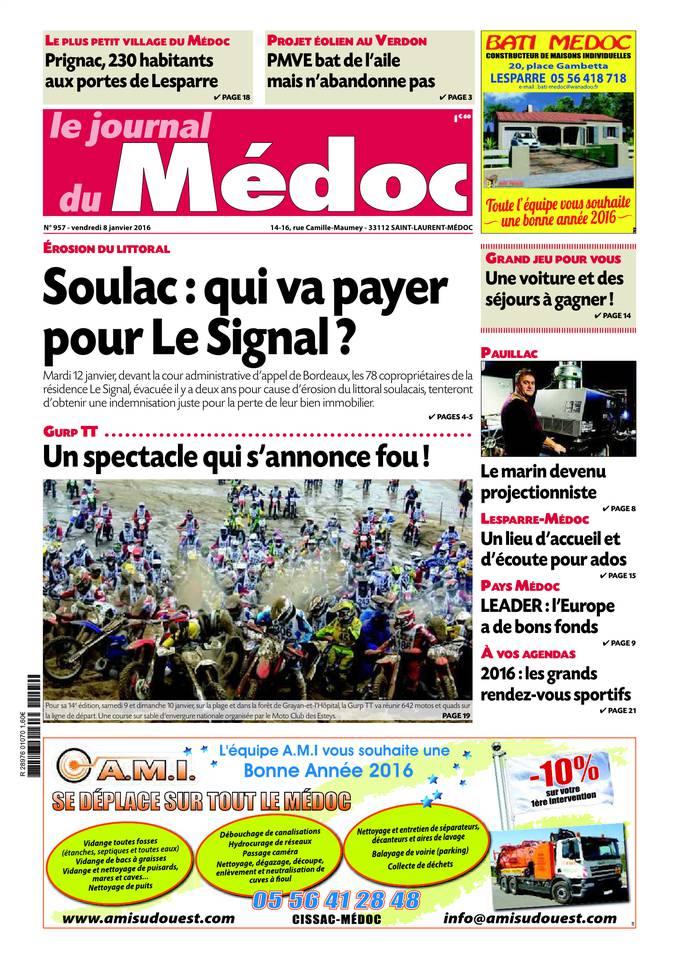 Le Journal du Médoc du 07 janvier 2016 à télécharger sur iPad