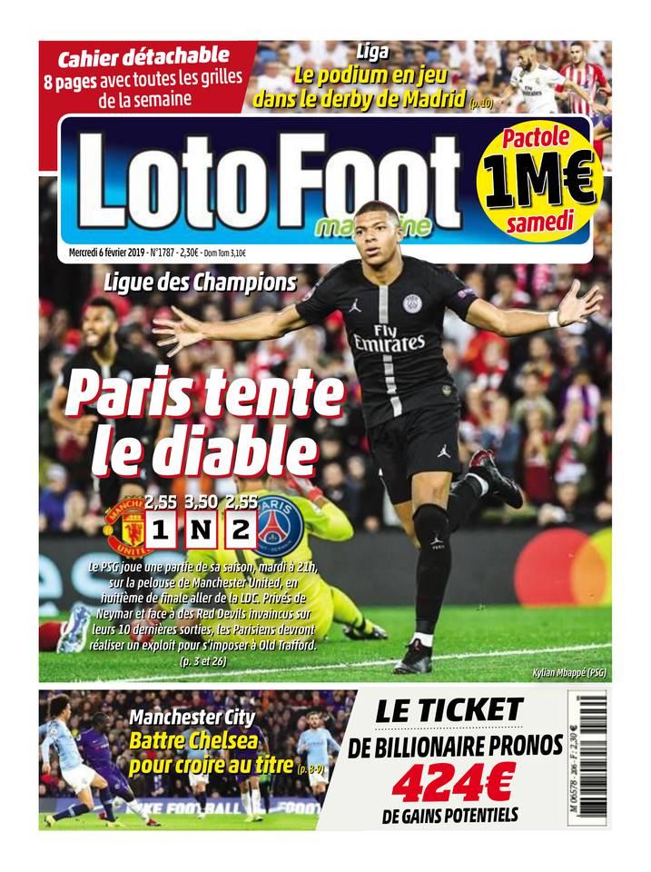 Loto Foot Magazine du 06 février 2019 à télécharger sur iPad
