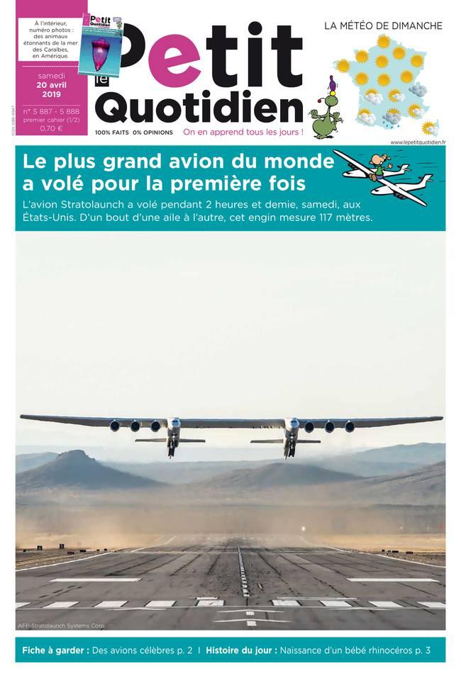 Le Petit Quotidien N°5887 du 20 avril 2019 à télécharger sur iPad