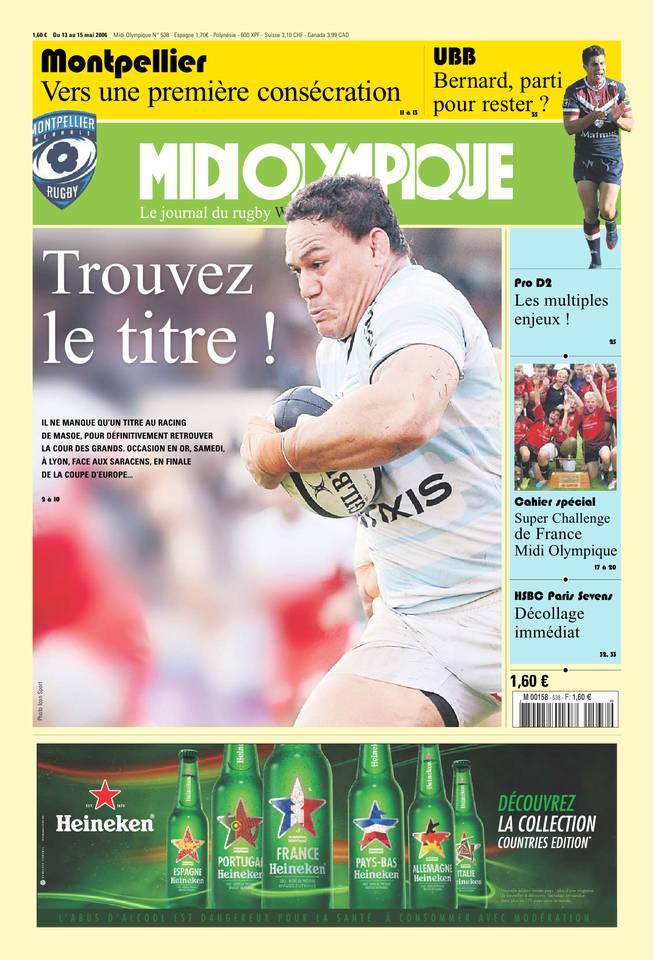 Midi Olympique Vert du 13 mai 2016 à télécharger sur iPad