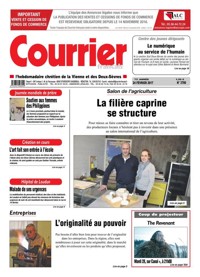 Courrier Français du 24 février 2017 à télécharger sur iPad