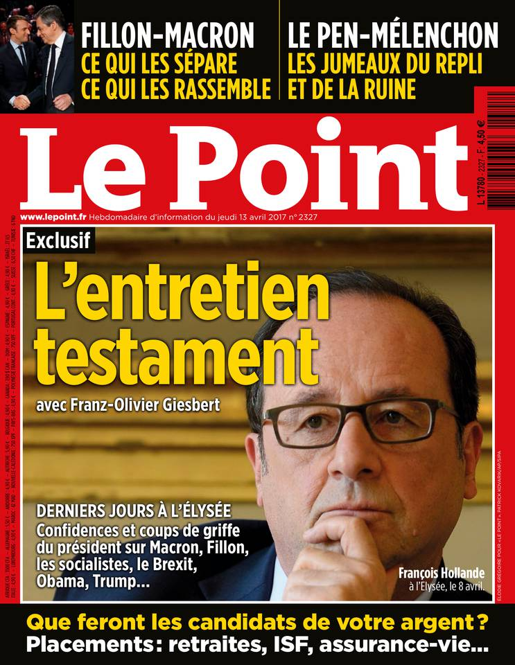 Le Point N°2327 du 13 avril 2017 à télécharger sur iPad