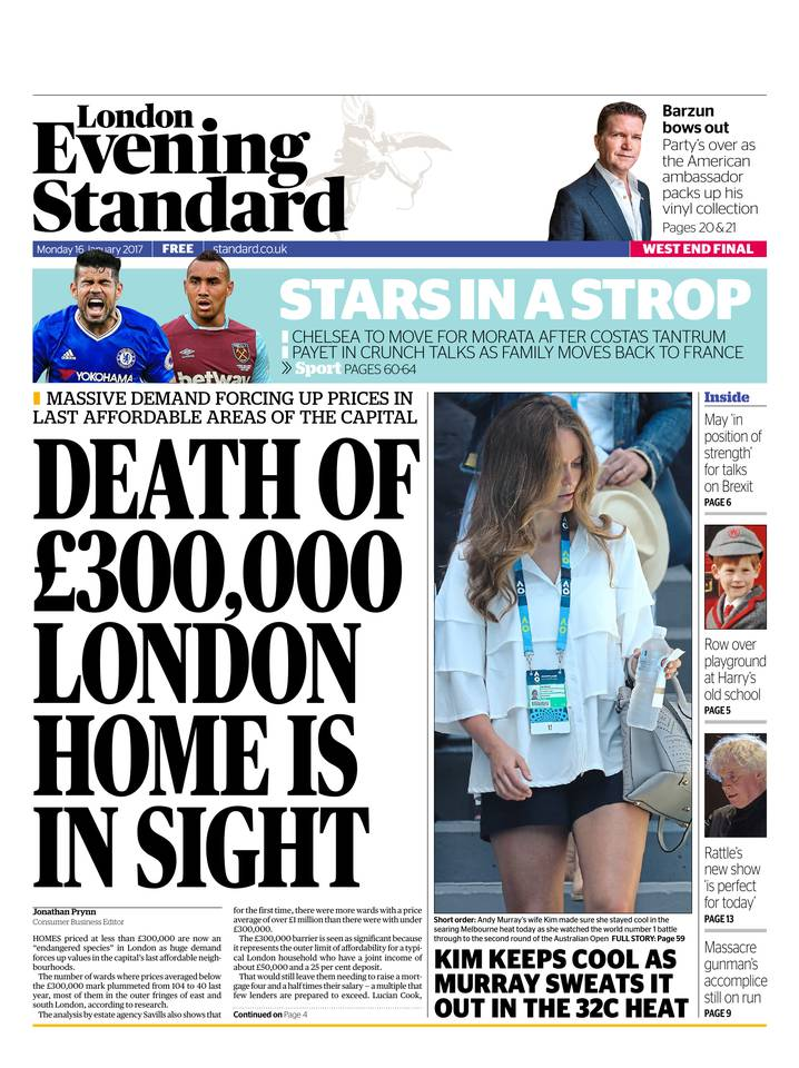 Abonnement London Evening Standard Pas Cher avec le BOUQUET ePresse.fr